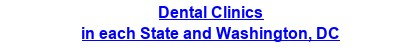 Dental Clinics in each State and Washington, DC